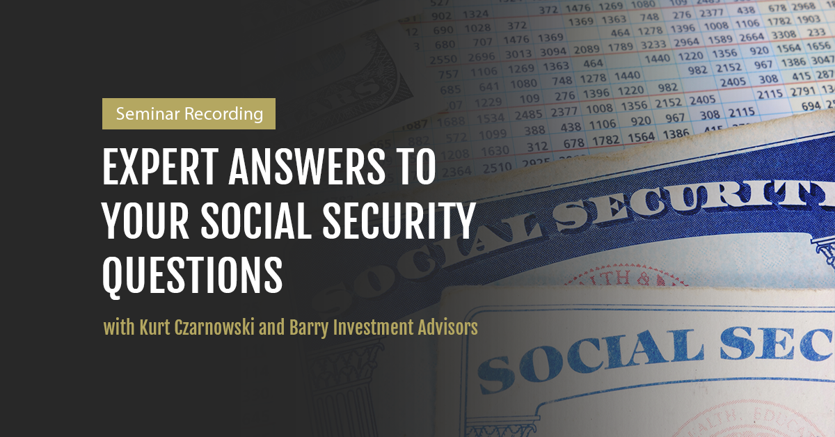 Watch our 2020 Social Security Seminar